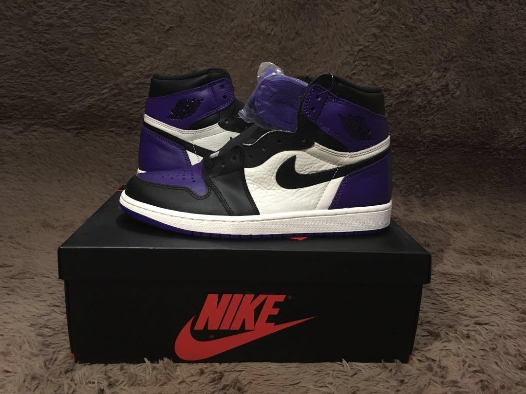 5c151b6b96b Air jordan 1 court purple us 8.5
