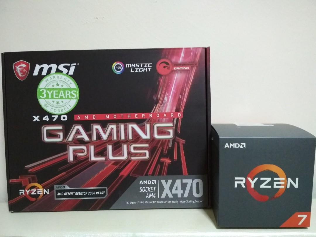 AMD RYZEN 2700 (8 Core 16 Threads) & MSI X470 Gaming Plus RGB Motherboard