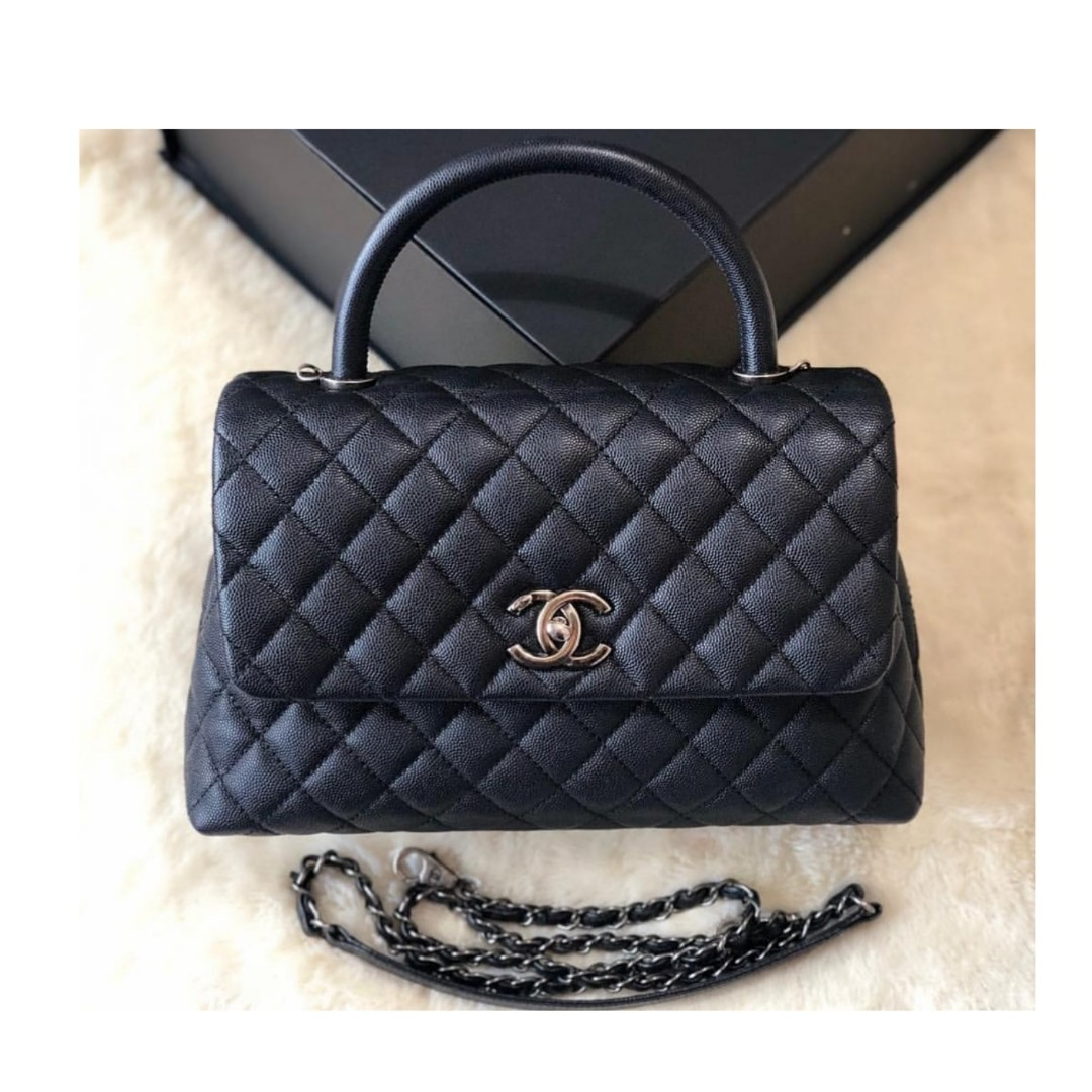 aa489d3ddf6f7 Authentic Chanel Coco Handle Flap Bag