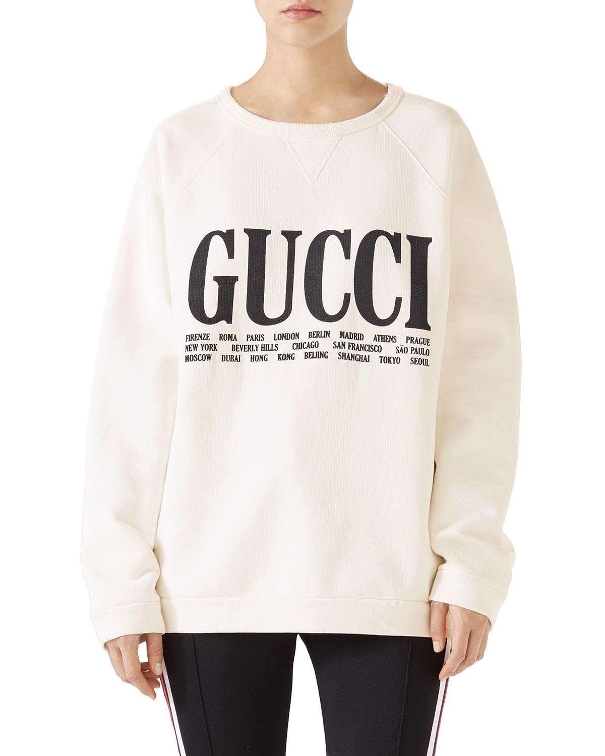 6b796c690d0 Authentic Gucci Cities Oversized Cotton Sweatshirt