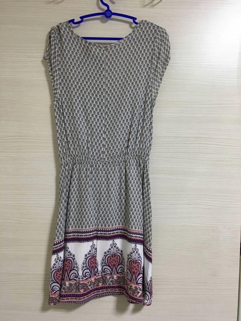 Aztec Printed Short Leave Dress