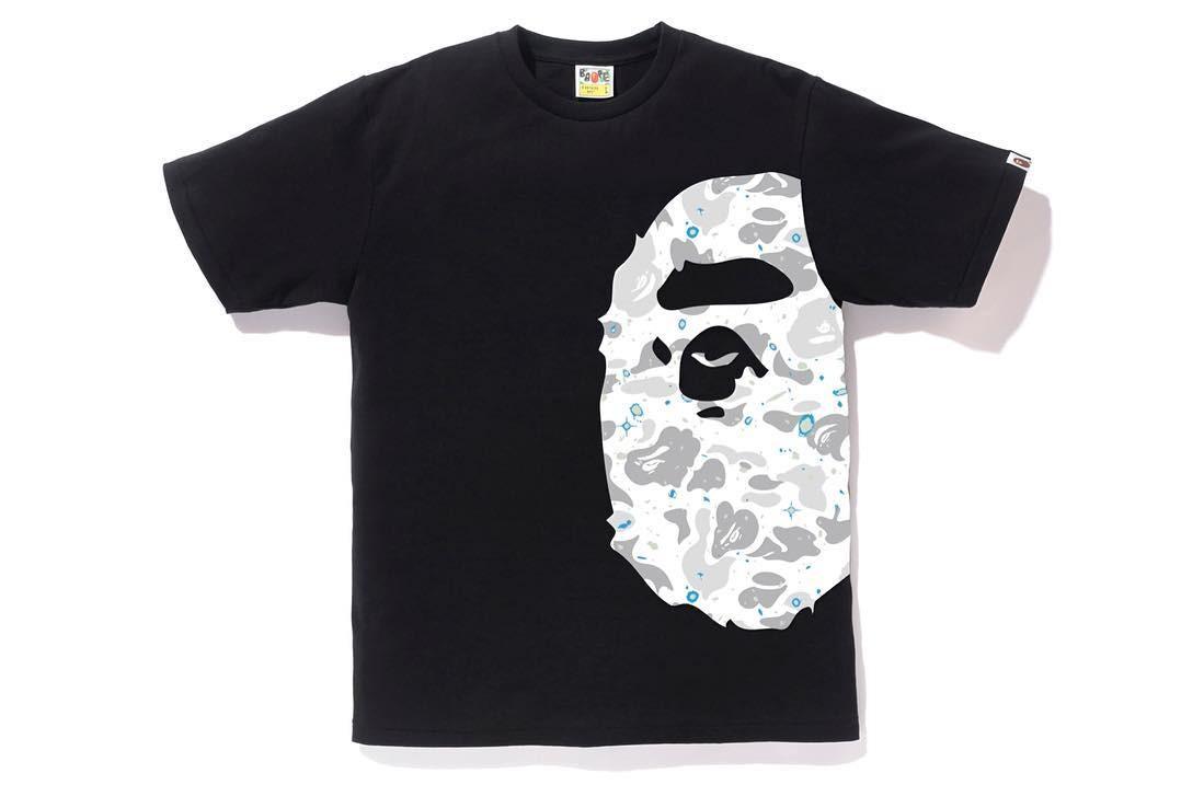 3ba2a35b Bape Space Camo Side Ape Head Tee, Men's Fashion, Clothes, Tops on ...