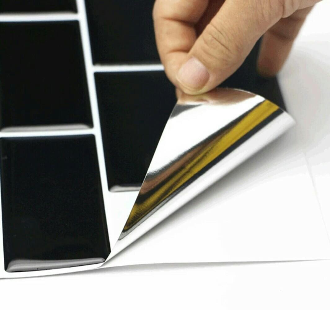 3D Black Subway Tiles Pattern Wall Sticker (self adhesive)