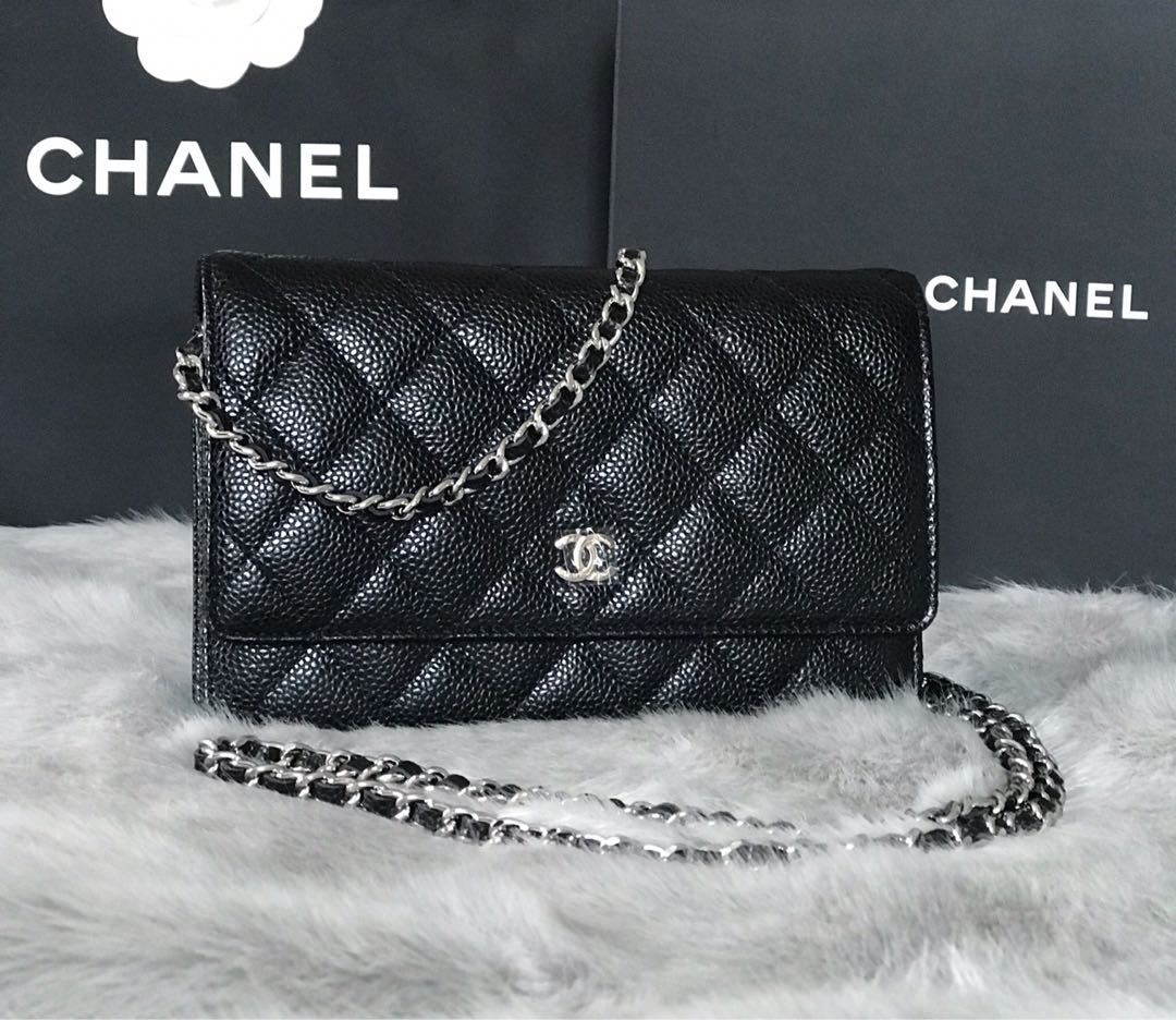 ec8a8b3f1b5b6d BNIB CHANEL WALLET ON CHAIN WOC (FULL SET), Luxury, Bags & Wallets,  Handbags on Carousell