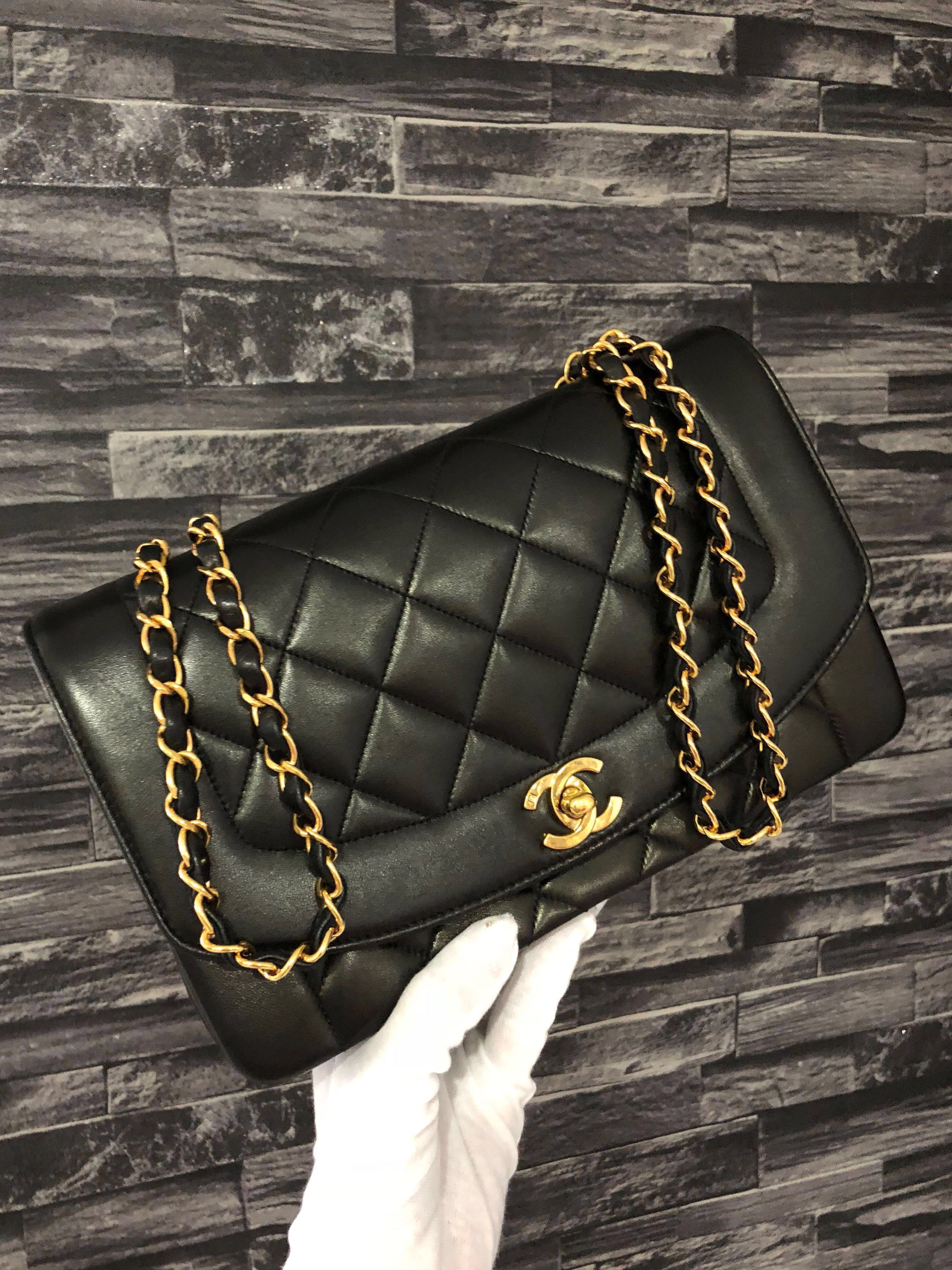 4af5b4b8c9c2 Chanel Diana Flap 10 Inch (Full Set), Luxury, Bags & Wallets, Handbags on  Carousell
