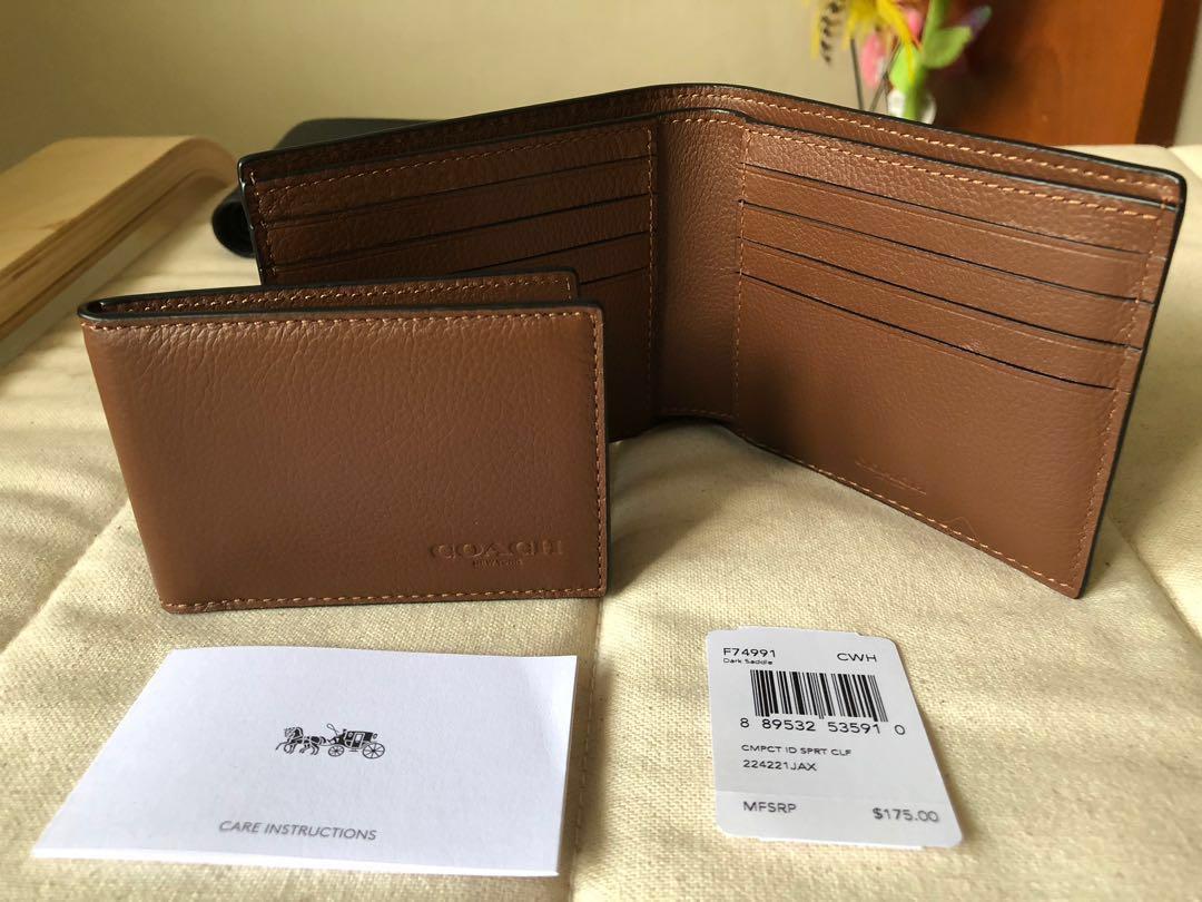 cc0ea847 Coach Mens Wallet 100% AUTHENTIC