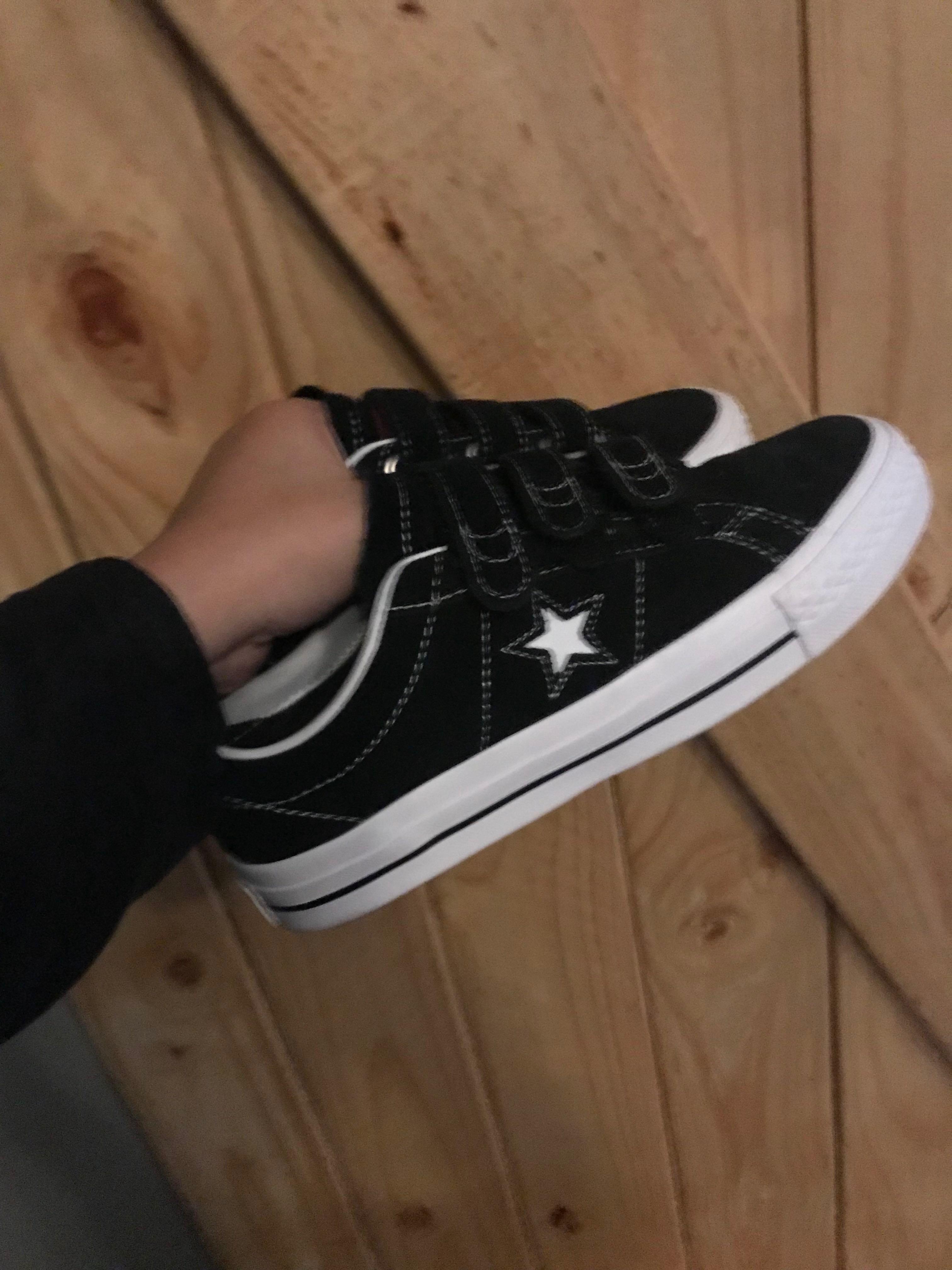 converse one star velcro black