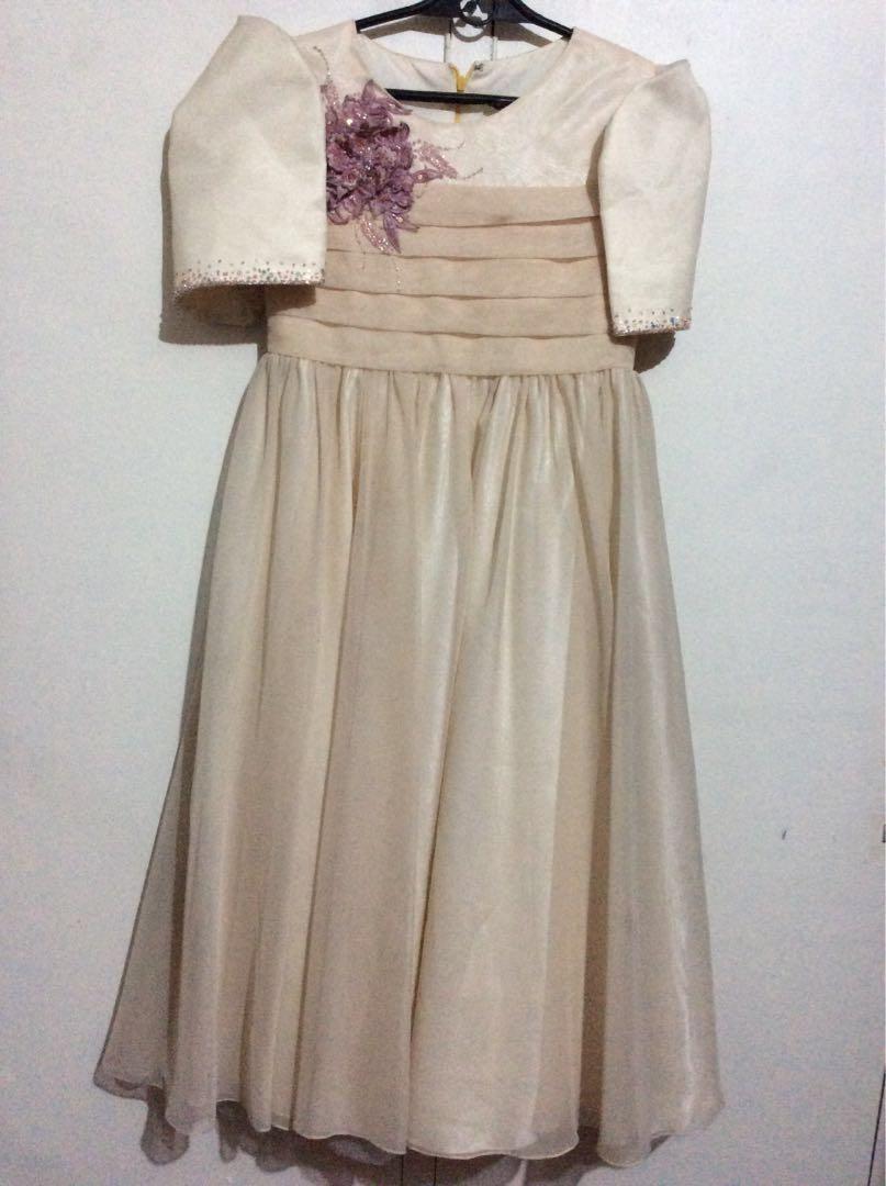 3e562b39647 Custom made Filipiniana gown dress