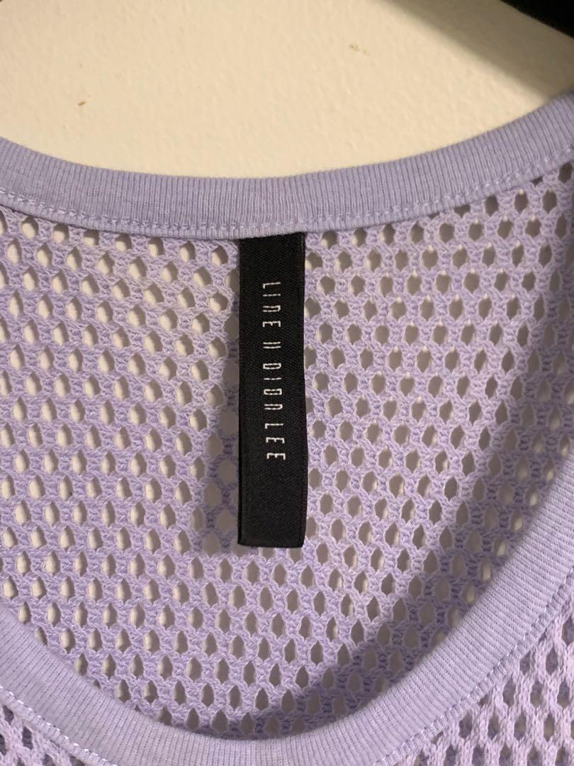 Dion Lee line II 2 lavender purple knit mesh top size 10 tank shirt