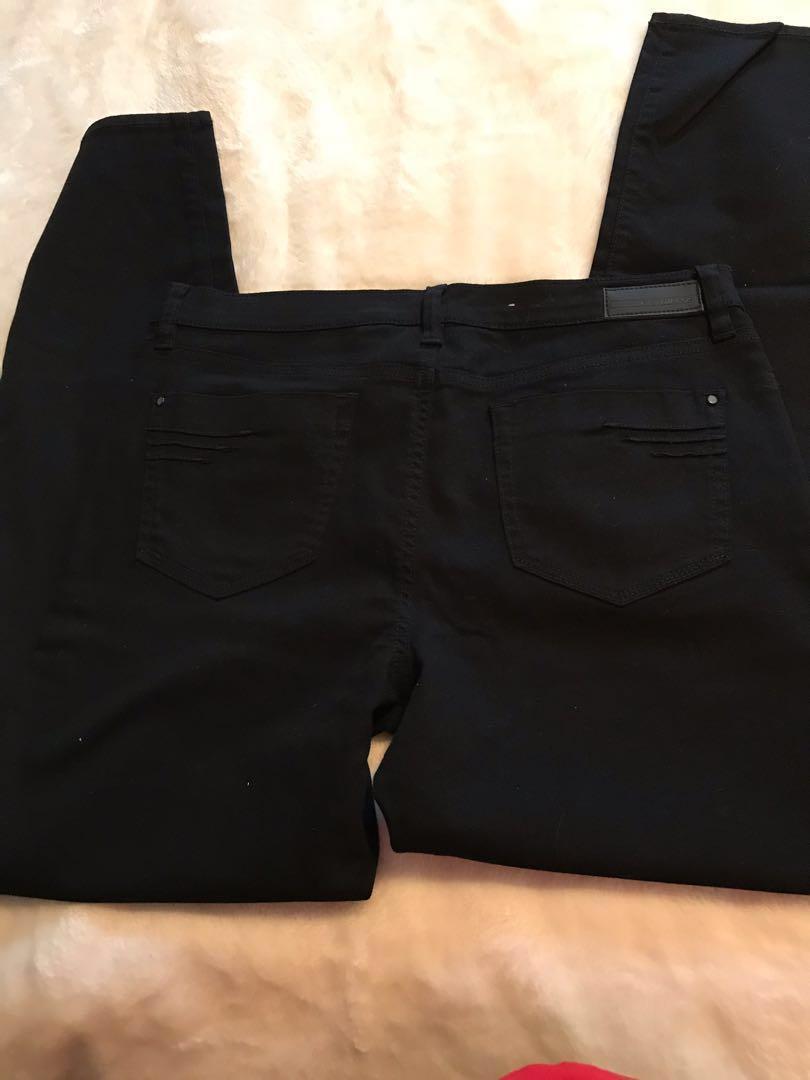 DKNY Straight Leg Black Jeans
