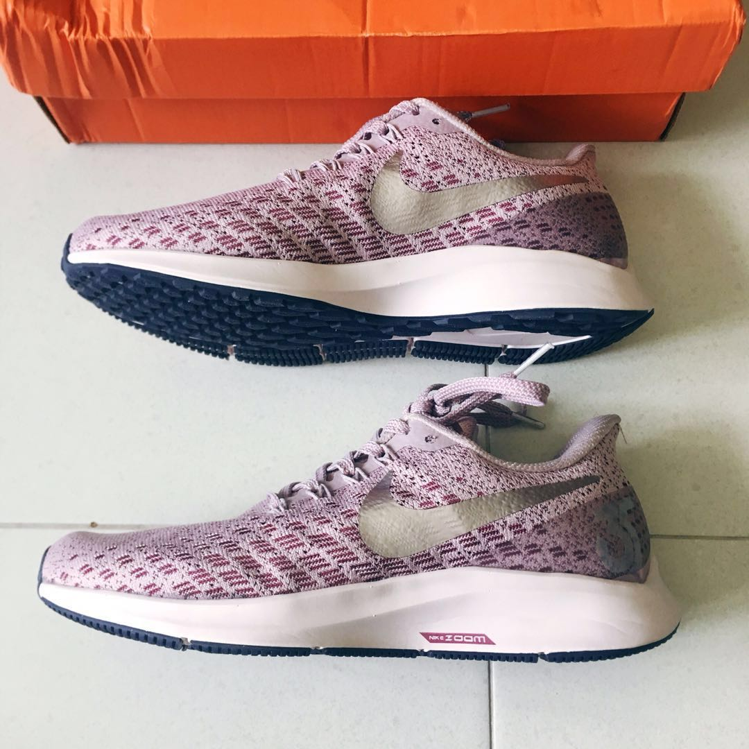 super popular 86cb9 f34d0 BNIB Nike Air Zoom Pegasus 35 Sneakers   Shoes in Elemental Rose   Barely  Rose   Vintage Wine   Indigo, Women s Fashion, Shoes, Sneakers on Carousell