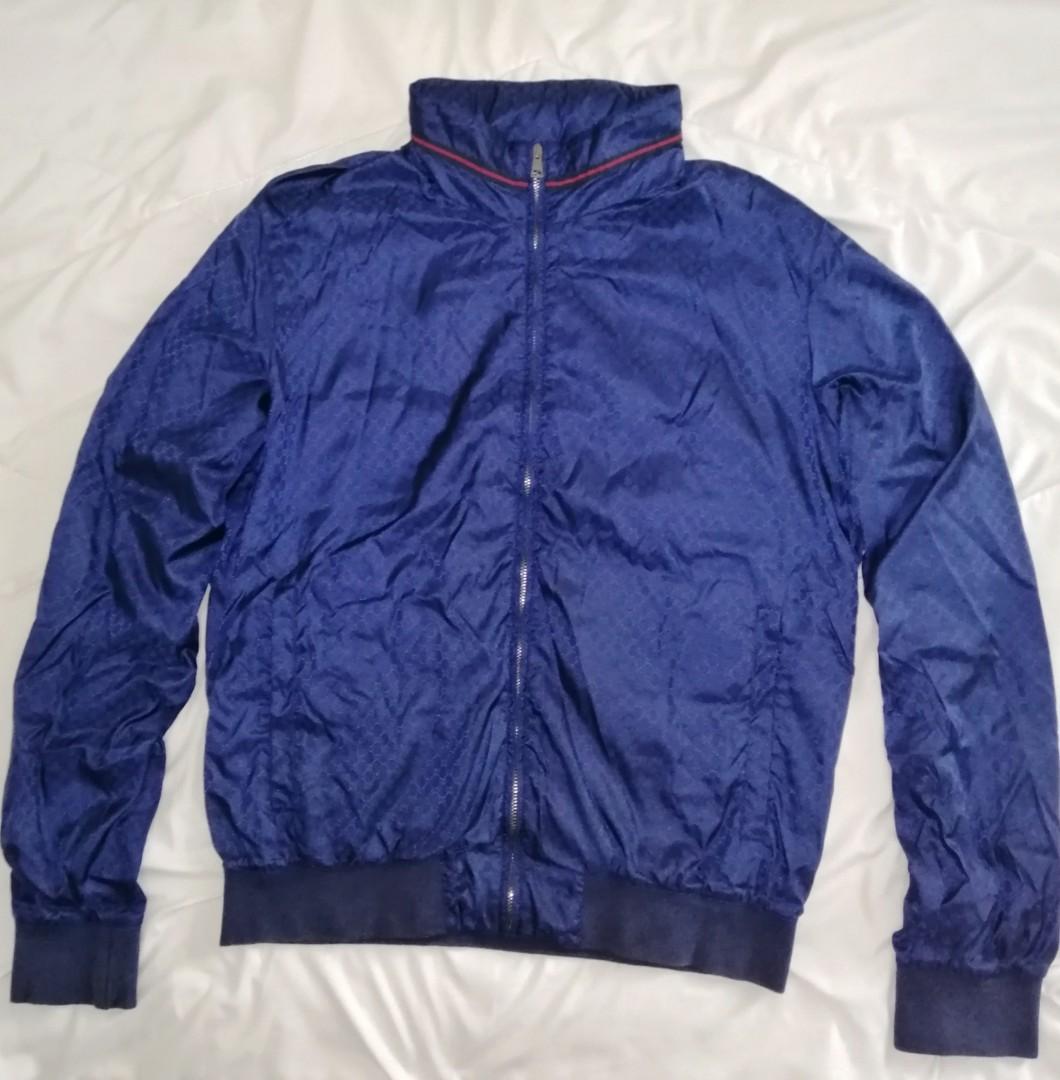 ccb9dbd6f Gucci Blue Jacket ORIGINAL, Men's Fashion, Clothes, Outerwear on ...