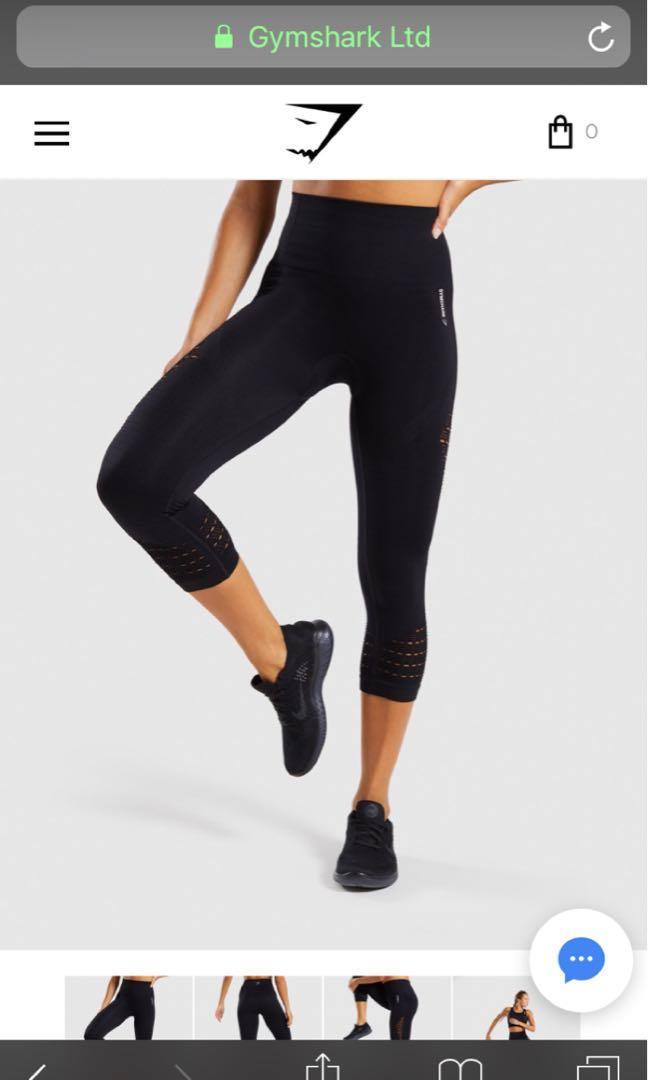 Gymshark Black Cropped Energy Seamless Leggings