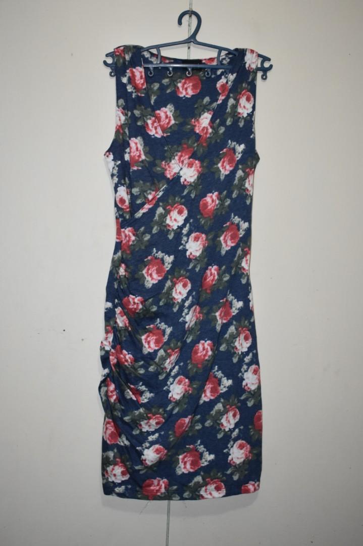 0eef44ab4f Jewels blue floral bodycon dress