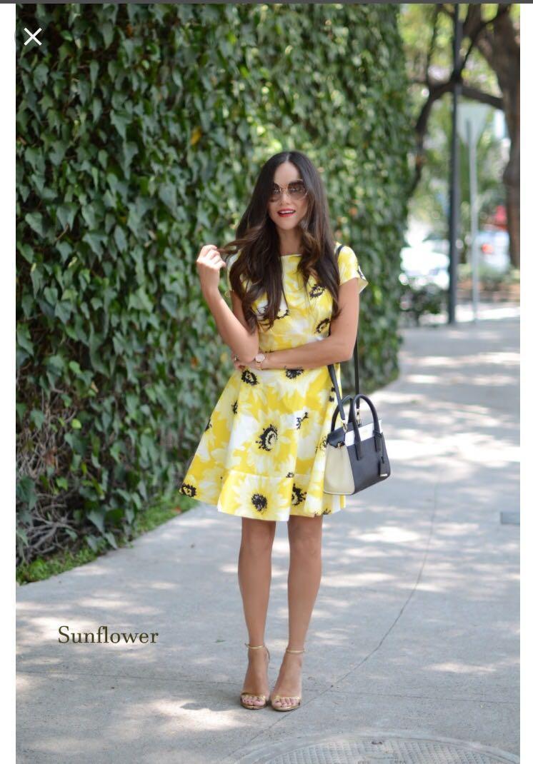 Kate Spade Sunny Daisy Fiorella Dress Size 4