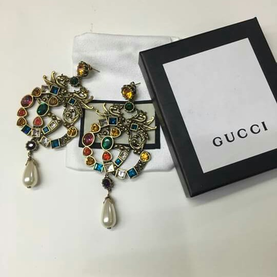 a661294ccd0d6 ⭐ SOLD OUT ⭐ Gucci Earrings GG Earrings Gucci Dangling Earrings GG ...