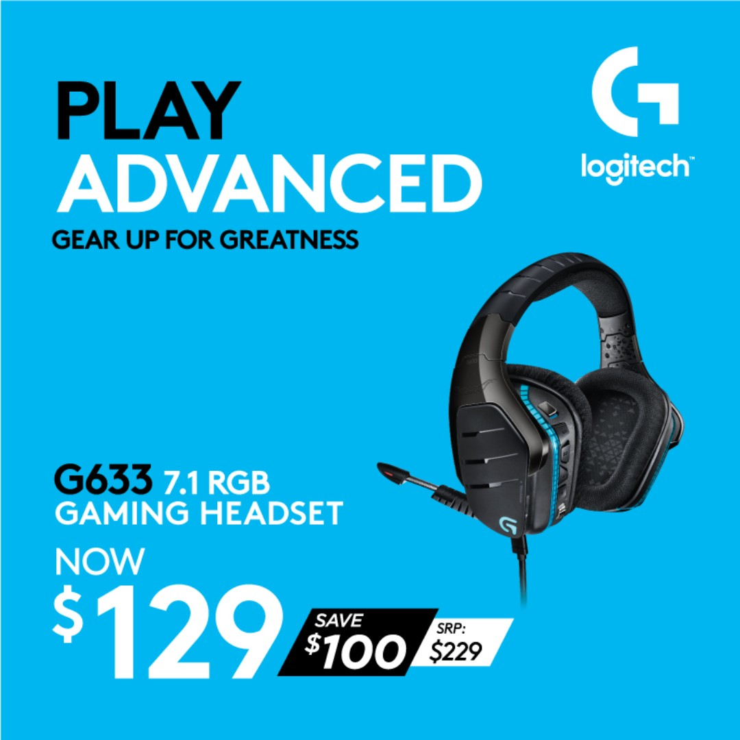 5c3b752f80e Logitech G633 Artemis Spectrum – RGB 7.1 Dolby and DST Headphone ...