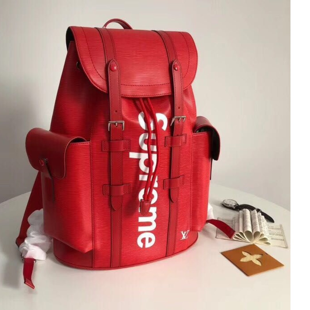 05fd1a1121f9 Louis Vuitton x Supreme Christopher Backpack Red