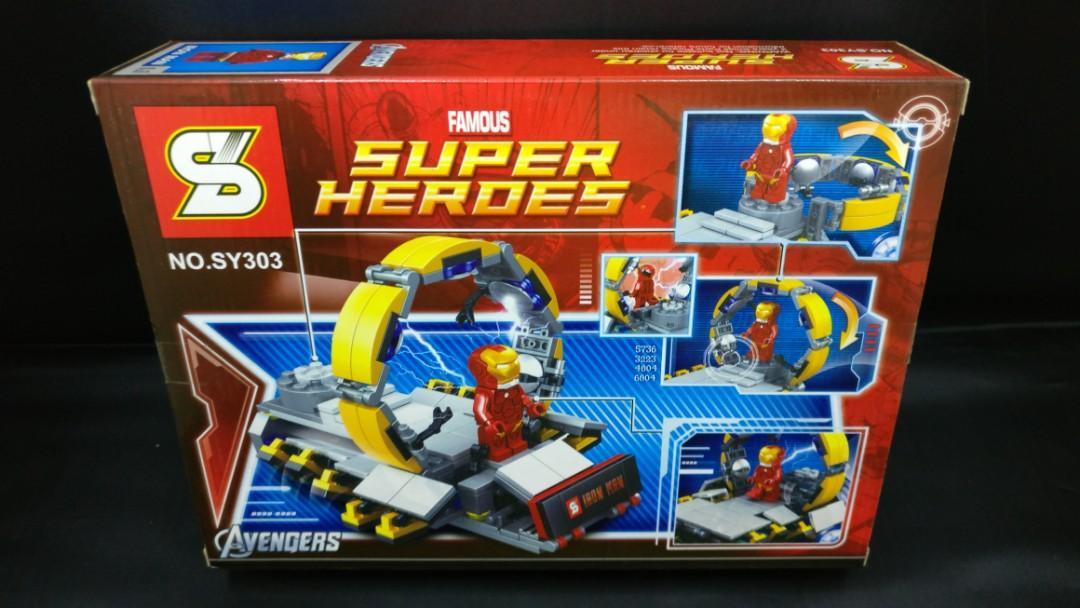 SuperHero Iron Man Suit Up Gantry (SY303)