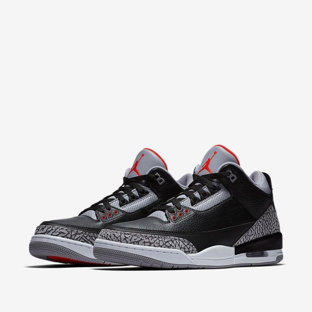 finest selection d9789 6afdb Nike Air Jordan 3 OG Retro Black Cement (2018)