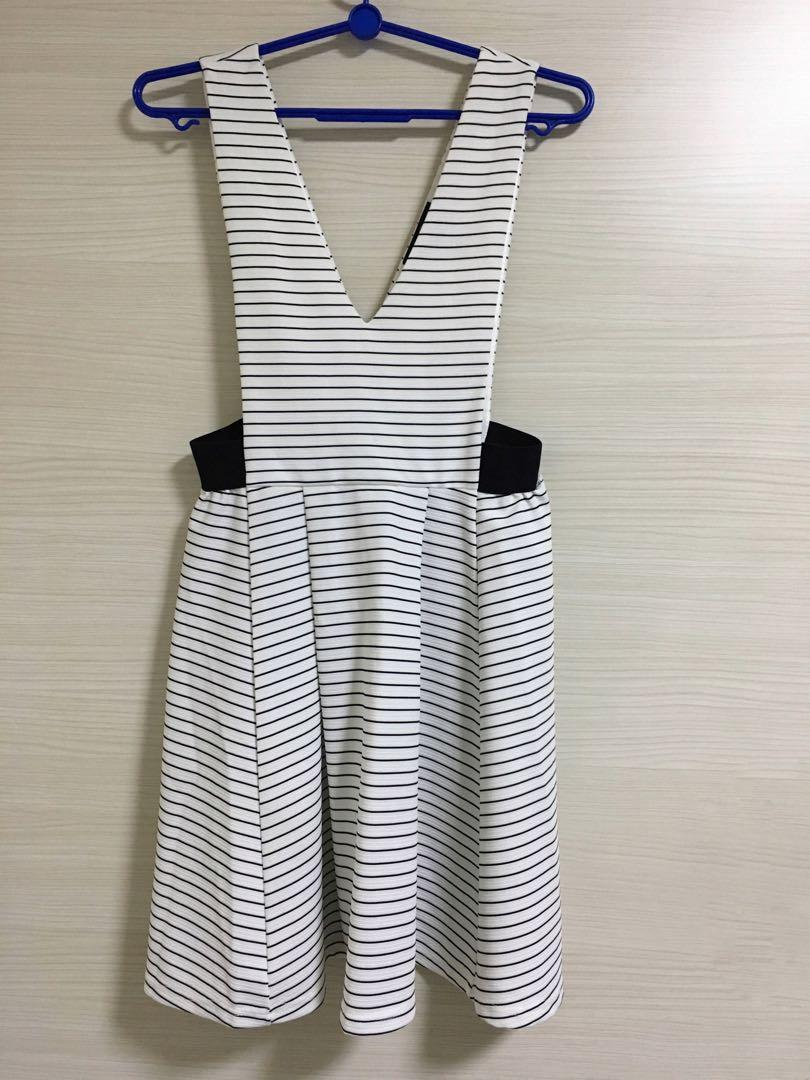Outer Sleeveless Striped Dress