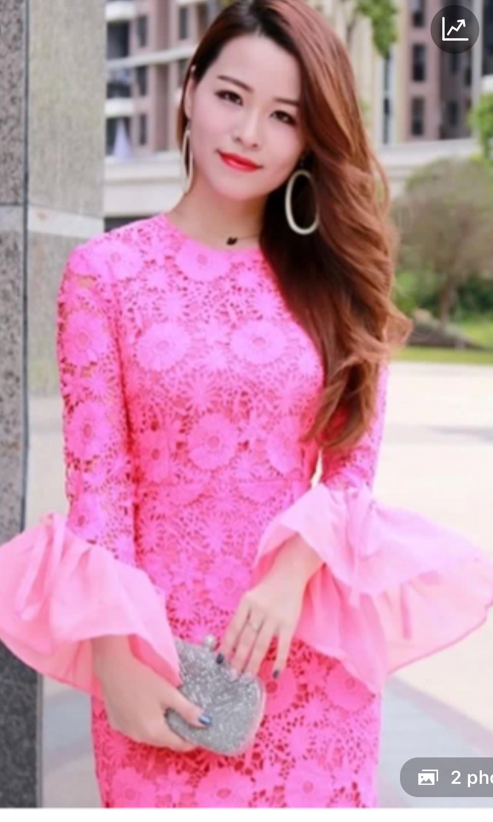 769fbecbecb1b Pink lace bell sleeve dress cny cheongsam dressabelle lilypirates ...