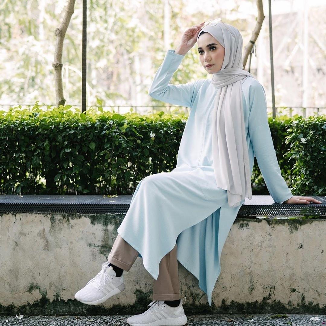0f8ae01ebbc POCKET LONG TOP baju labuh kurta kurti blouse peplum tunic tunik, Women's  Fashion, Muslimah Fashion on Carousell