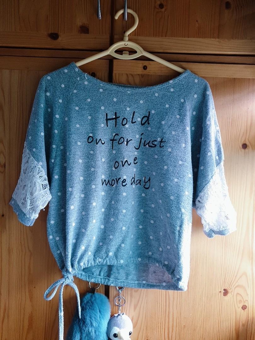 Preloved cute grey shirt