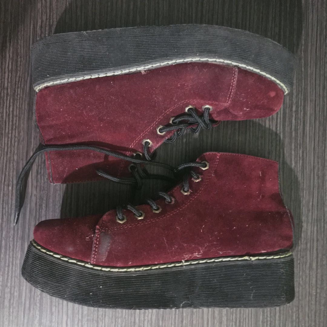 REPRICED  Velvet Creepers Platform Shoes a6193614d