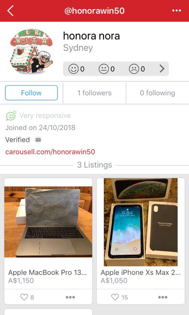 SCAMMER!!! DO NOT BUY Iphone xs max space grey 256 GB