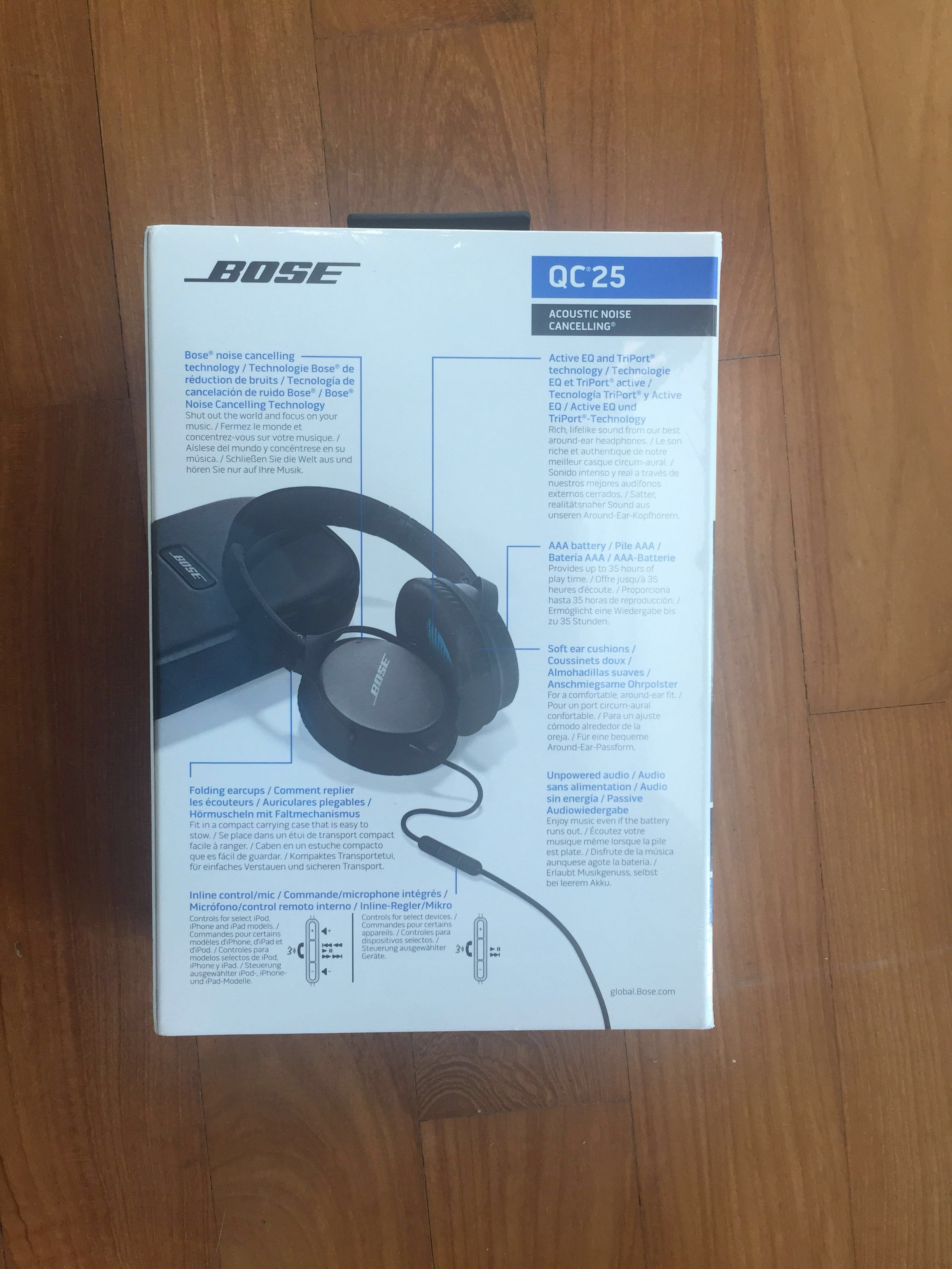 Still packed Bose Headphones Quiet Comfort QC25