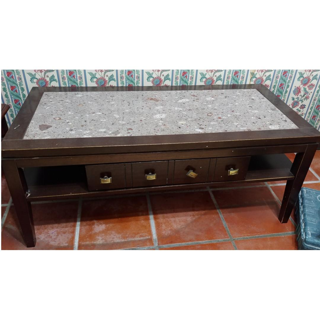 Stone Granite Top Coffee Table