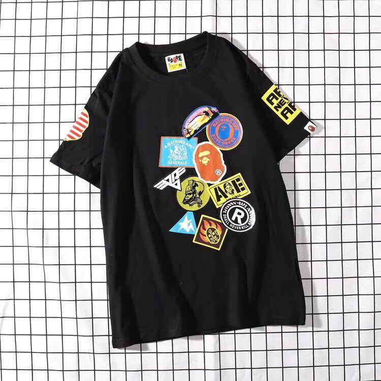 f5744db1 Tshirt Bape A Bathing Ape patch 19ss, Fesyen Lelaki, Pakaian, Baju ...