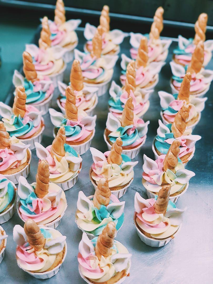 Unicorn Themed Mini Cupcakes (Halal)
