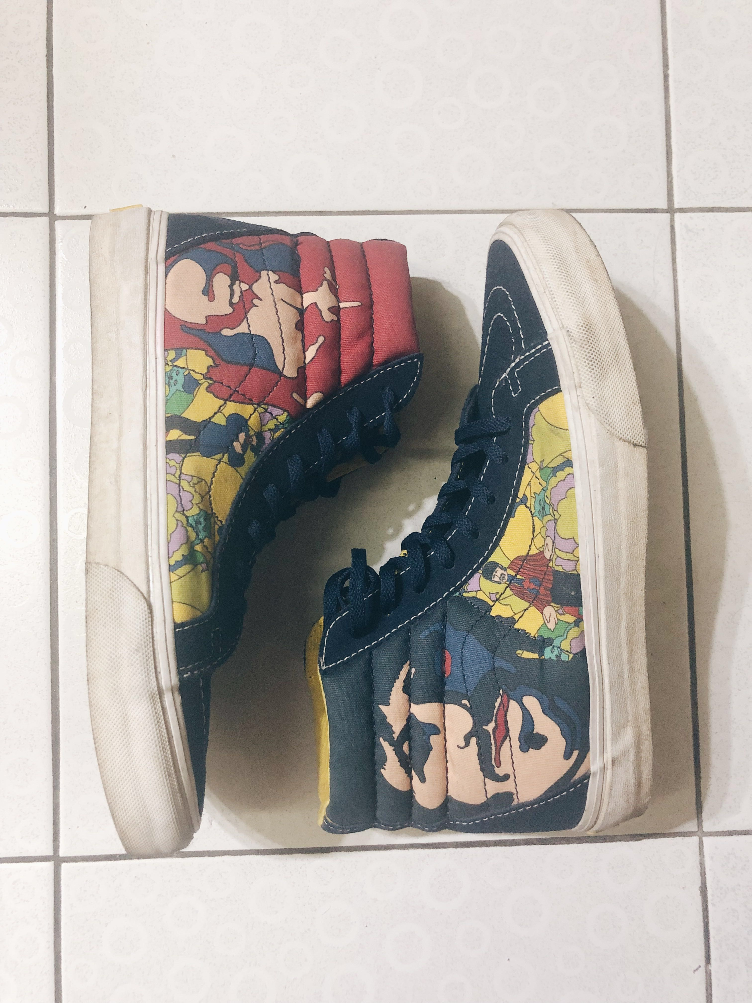 6ae0c22238 VANS x The Beatles Vintage Vintage Sk8-Hi Reissue Yellow Submarine ...