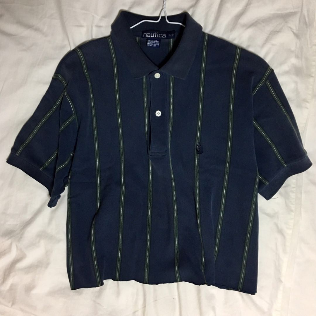 64d2062d364 vintage nautica cropped polo tee, Men's Fashion, Clothes, Tops on ...
