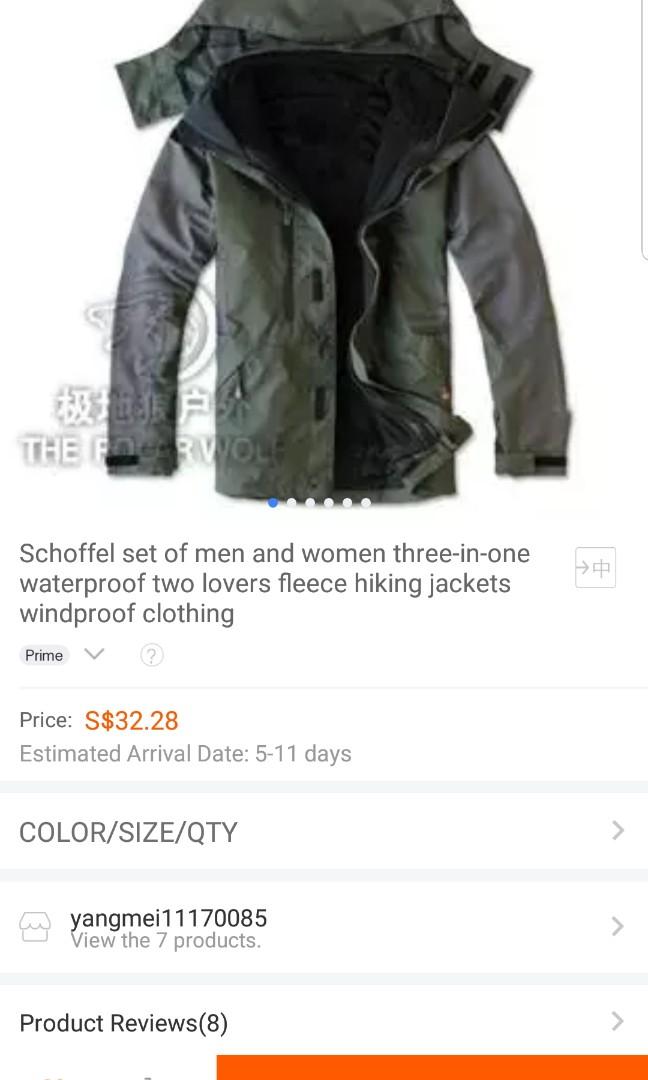 5aa2ec7bf Unisex Winter Jacket (Waterproof, 3-in-1 removable layer), Men's ...