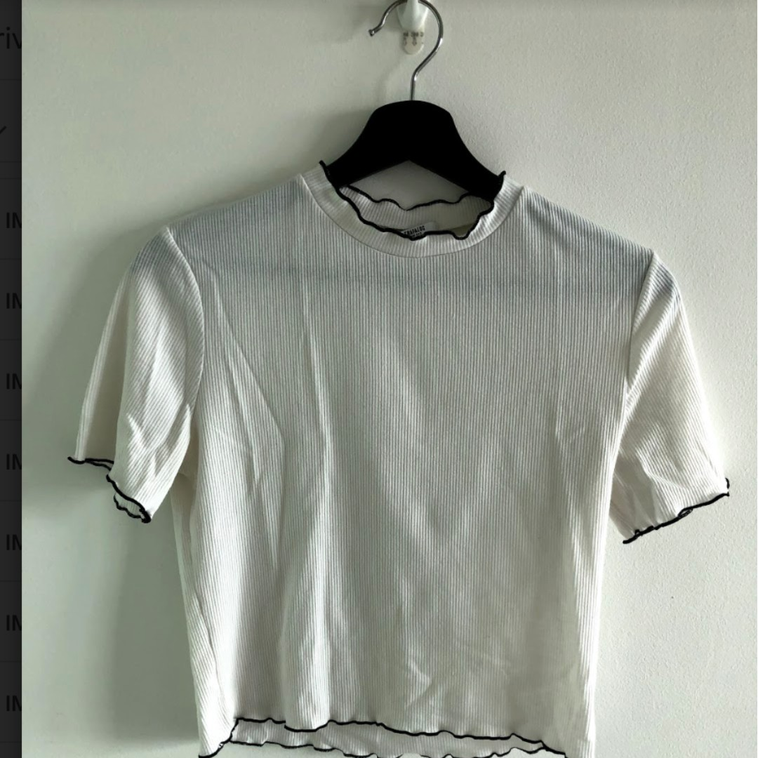 90b37fea Zara white crop top, Women's Fashion, Clothes, Tops on Carousell