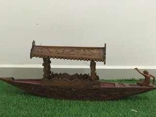 Home Decoration wooden, hand carved boat /Kashmiri shikara