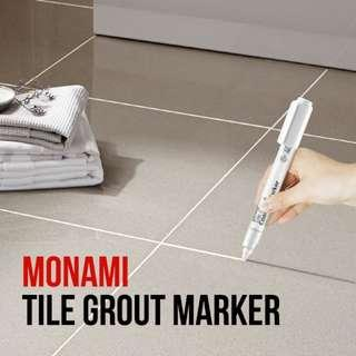 MONAMI TILE GROUT MARKER AVAILABLE IN WHITE, CREAM, GREY