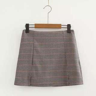 格仔短裙 checkered Skirt Stock 現貨