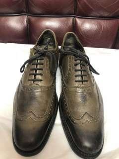 N.d.c leather wingtip shoe used Sz 39