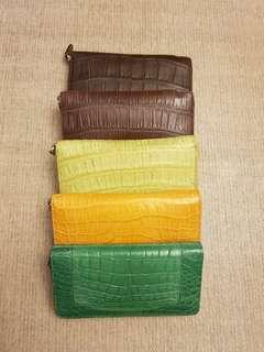 Dompet Kulit Buaya Asli / Real Crocodile Skin Wallet