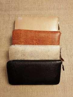 Dompet kulit biawak / Lizzard zipper wallet