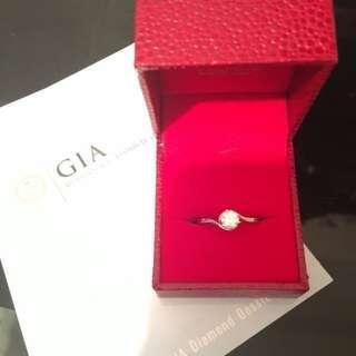 半卡鑽石戒指 0.51 Carat  F Color  GIA 證書