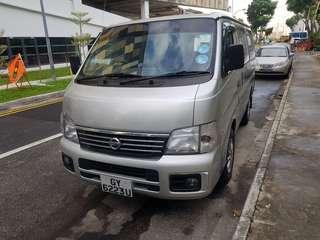 Nissan Urvan manual For rent