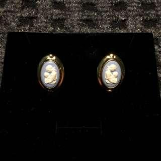 Wedgwood Mother and Child Porcelain Clip-ons