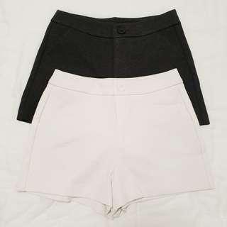 Iora Shorts (Dark Heather Grey & White) S