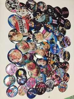 KPop groups button pins