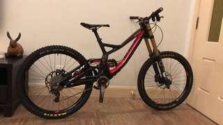 2014 Specialized S-Work Demo 8 DH bike down hill